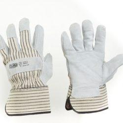Перчатки комбинированные замшевые р10,5 (цельная ладонь) СИЛА