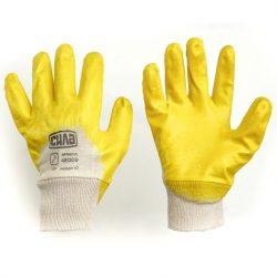 Перчатки с нитриловым покрытием р10 (желтые с хеддером)